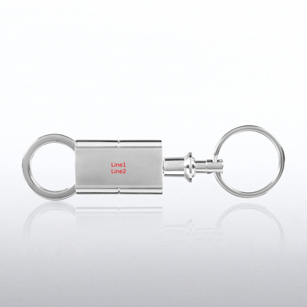 Silver Swivel Valet Key Chain - Engravable!
